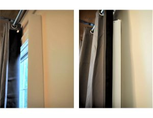 curtain pulled over blind