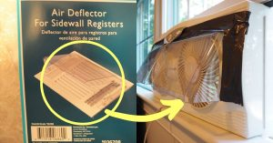 air deflector attached to a fan