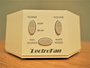 white noise machine close up