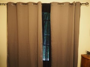 black mesh liner inbetween curtains