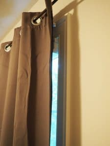 side view of curtains
