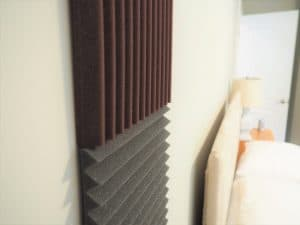 soundproof panels attached to a wall
