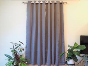 dark colored curtains