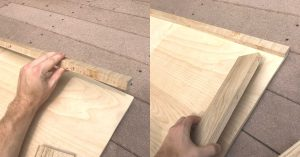 placing boards on plywood
